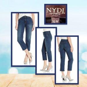 NYDJ 16W Marilyn Relaxed Capri Jeans